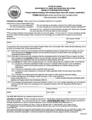 2013 Form HI HC-5 Fill Online, Printable, Fillable, Blank - PDFfiller