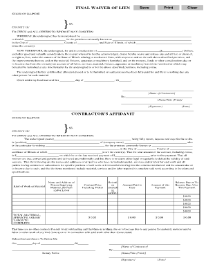 final lien waiver template Forms - Fillable & Printable Samples for ...