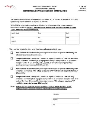 Medical Examination Form For Commercial Driver