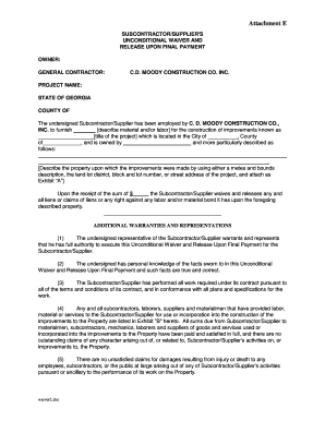 photograph about Printable Lien Waiver identify Fillable ga interim lien waiver style - Down load