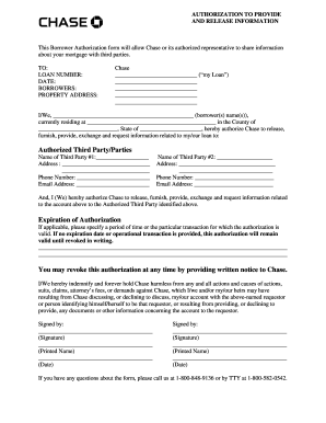 Chase Authorization - Fill Online, Printable, Fillable, Blank ...