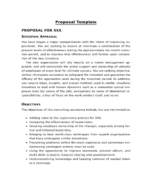 hr consulting proposal template - sample personal consulting proposal forms and templates