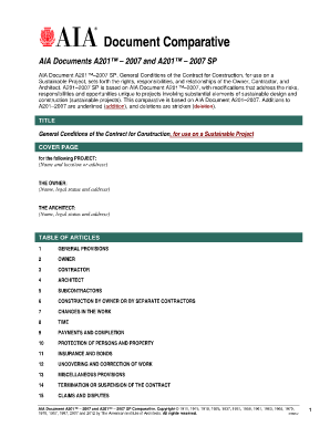 AIA Document A2012007 SP, General Conditions of the Contract for Construction, for use on a