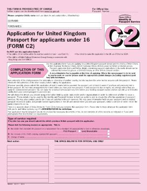 Urgent help filling out c2 uk passport renewal form! British expats.