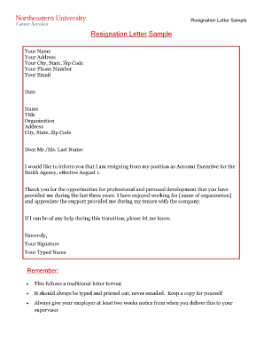 7 Printable simple resignation letter sample Forms and Templates ...