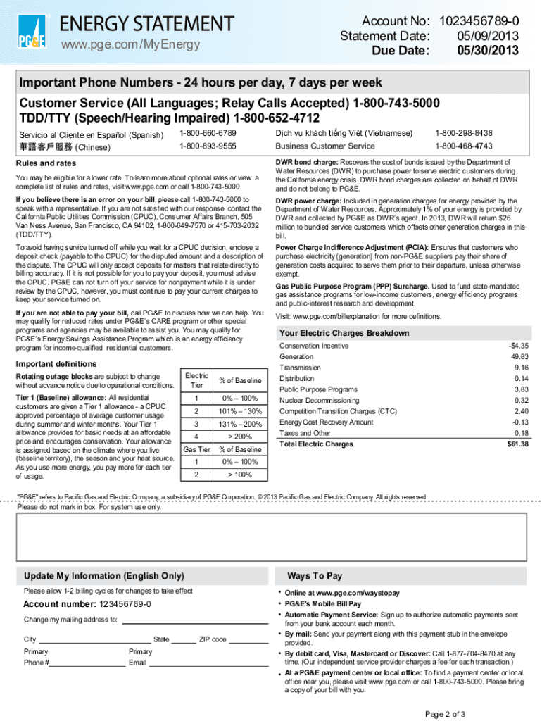 Monthly Bill Due Date Template from www.pdffiller.com