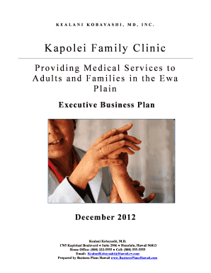 Medical Practice Business Plan Template from www.pdffiller.com