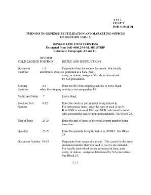 Fillable Milstrip Dd Form 1348 1a - Fill Online, Printable ...