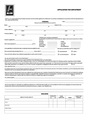 Standard Job Application Form Templates Fillable Printable