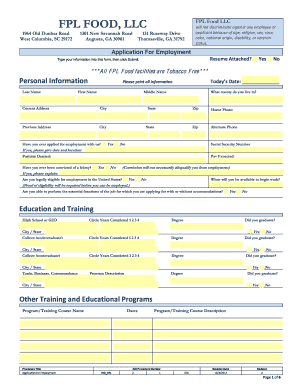 fpl columbia sc application form