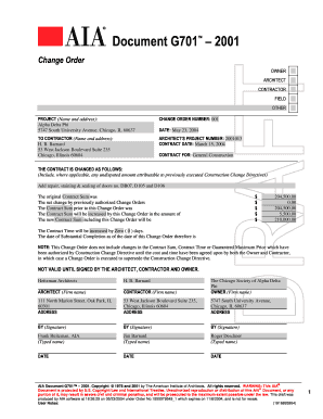 aia change order form Aia Change Order Form - Fill Online, Printable, Fillable, Blank ...