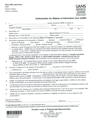 Uams emergency room release papers pdf fill online for Emergency room discharge template
