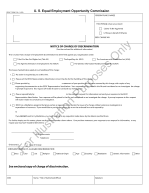 Fillable Online eeoc EEOC FORM 131 (1109) Fax Email Print - PDFfiller