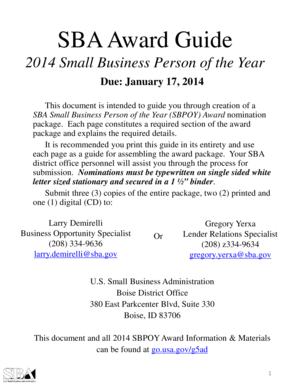 SBA BDO Award Package Template 2014.pdf - SBA.gov - sba