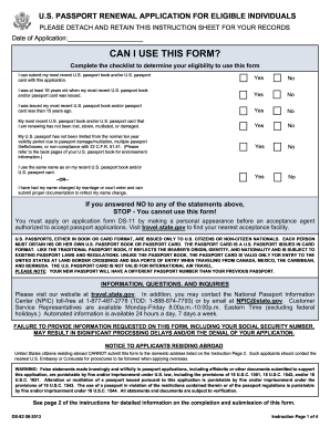 2013 Form DS-82 Fill Online, Printable, Fillable, Blank - PDFfiller