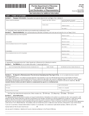 myfloridacom power of attorney form