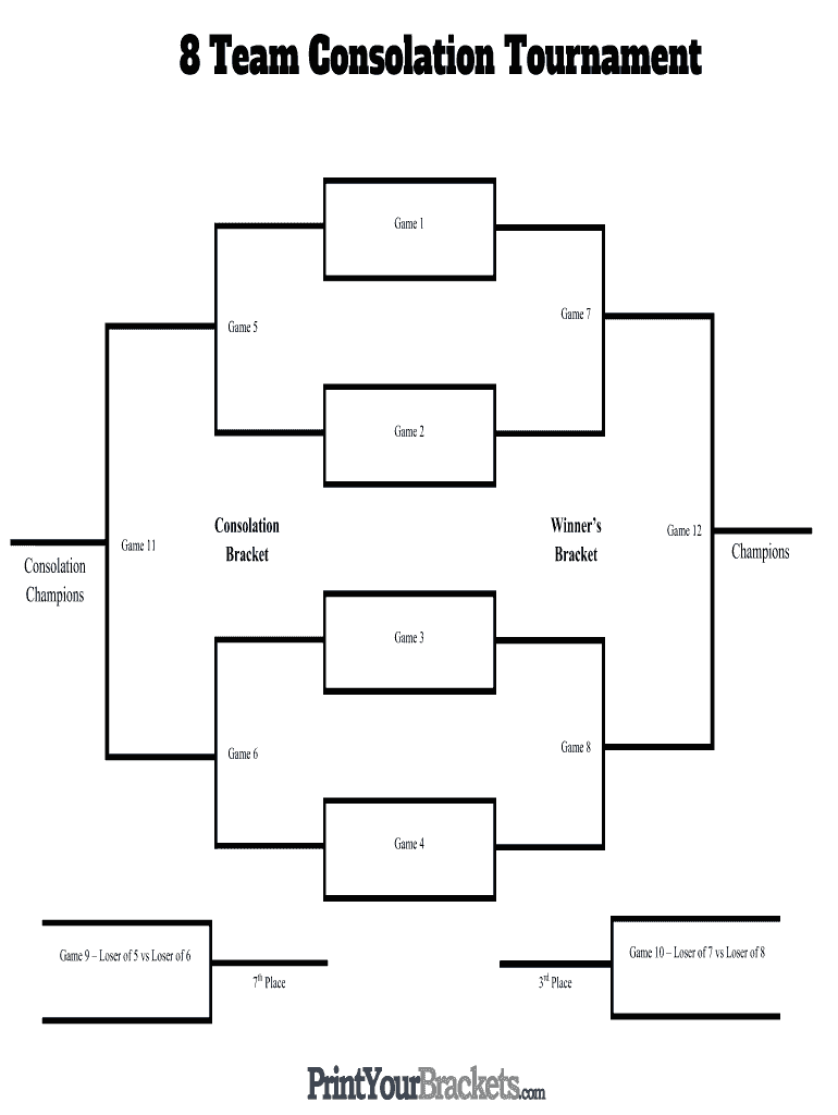 photo about Printable Double Elimination Brackets referred to as 8 Workers Event Bracket - Fill On the web, Printable, Fillable