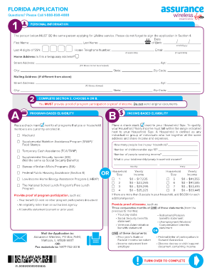 Assurance Wireless Application Pdf Fill Online Printable