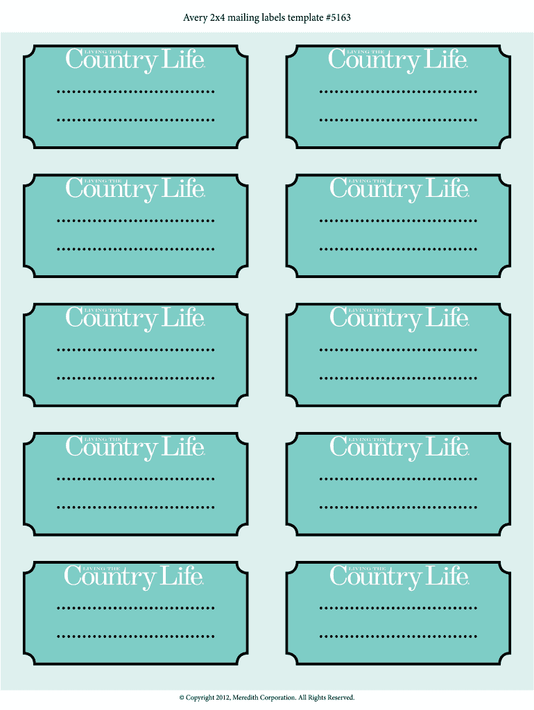 Avery 2X4 Label Template from www.pdffiller.com