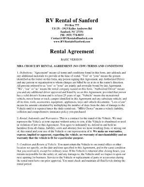 Trailer Rental Agreement Template Forms Fillable Printable