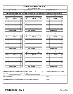 Fillable Online uamont CC Form 104-R Academic Worksheet Fax Email ...