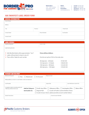A8A MANIFEST? LABEL ORDER FORM - cdn.pacificgroup ...