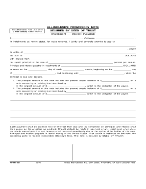 25 Printable Promissory Note Secured By Deed Of Trust