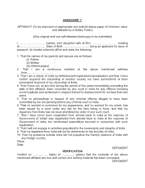 Annexure i for indian passport pdf