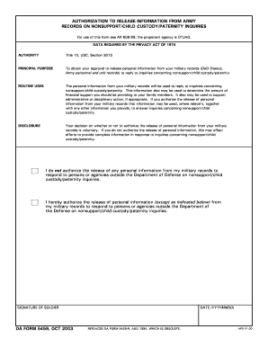 Privacy Act Release Form Army