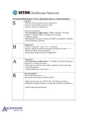 sbar printable forms Sbar Report - Fill Online, Printable, Fillable, Blank | PDFfiller