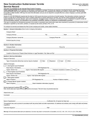 Termite inspection termite inspection form 99b for Soil full form