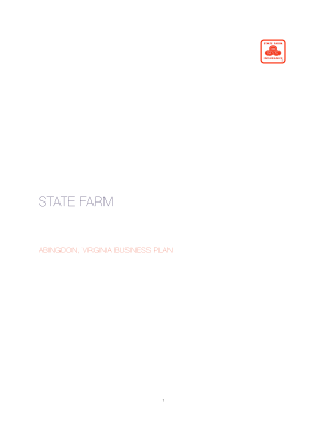 state farm business plan template form