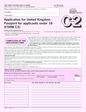 Type C2 Passport Application And Print - Fill Online, Printable ...