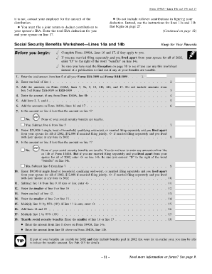 Worksheets Social Security Benefits Worksheet 1040a fillable online social security benefits worksheet lines 14a and fill rate this form 5 0 satisfied 35 worksheet