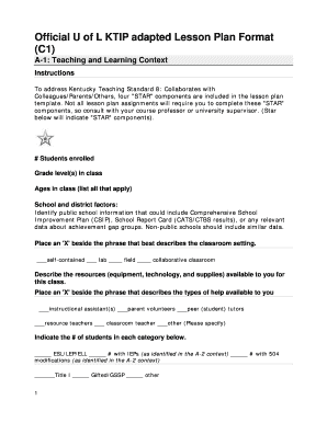 56 printable lesson plan template forms fillable samples in pdf