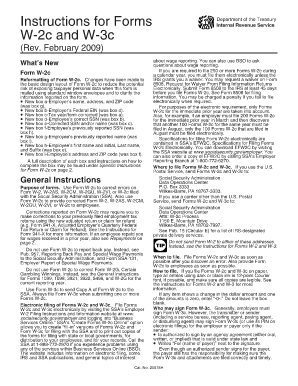 W2c forms 2008 fill online printable fillable blank for W2c template