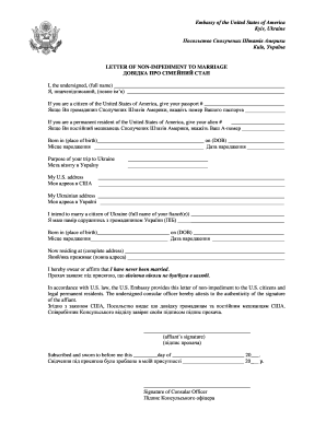 Letter Of No Impediment Sample Fill Online Printable