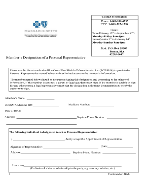 Member Designated Representative Form English - Coventry ...
