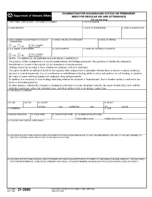 Fillable Va Form 21 2680 - Fill Online, Printable, Fillable, Blank ...