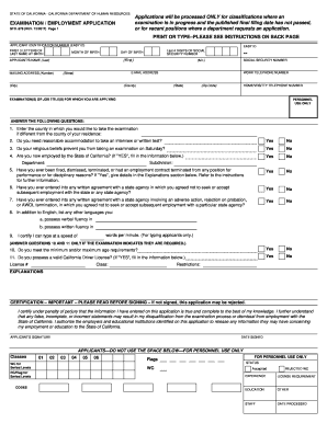 bill of sale form application for employment california only