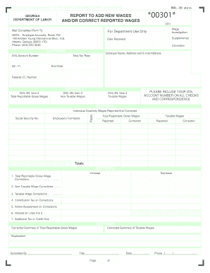 2014-2017 Form GA DOL-3C Fill Online, Printable, Fillable, Blank ...