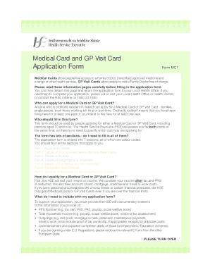 Fillable Online Medical Card Application Form - Primacare Fax ...