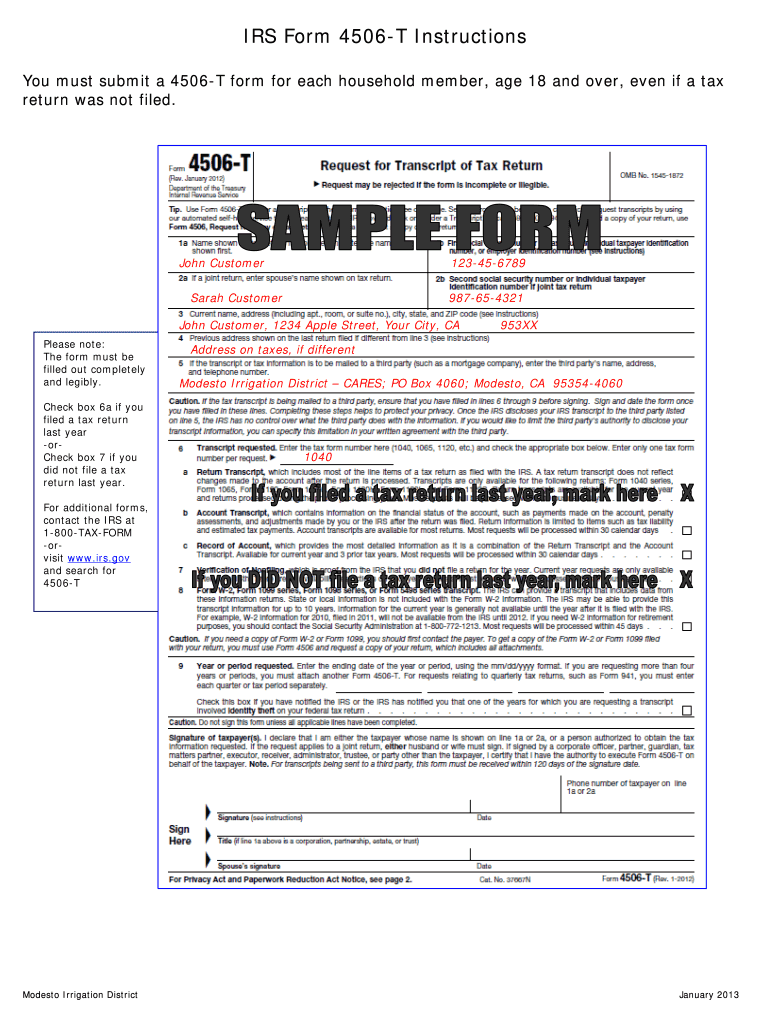 How To Fill Out Form 4506 T - Fill Online, Printable, Fillable