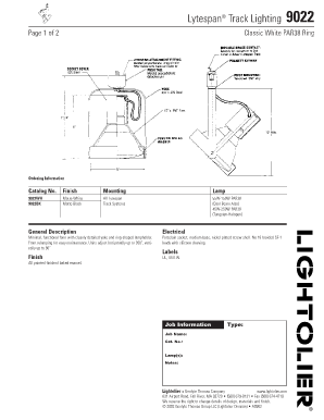 fillable online lytespan track lighting 9022 lightolier fax email