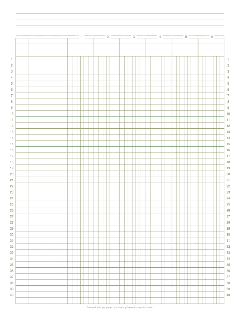 photo regarding Ledger Sheet Printable named On the web Ledger Paper - Fill On the web, Printable, Fillable
