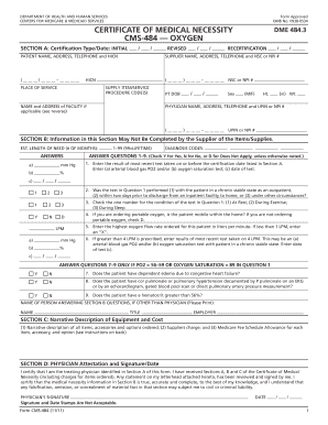 Form CMS-484 - Centers for Medicare & Medicaid Services - cms