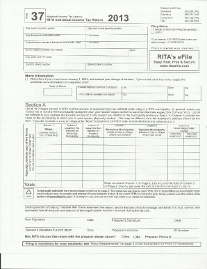 2012 Form OH RITA 37 Fill Online, Printable, Fillable, Blank ...