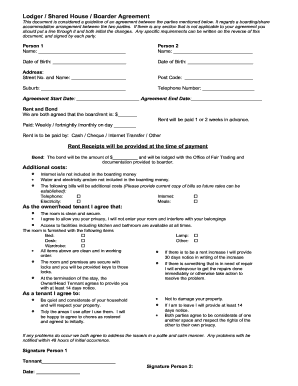 boarder agreement template room rental agreement shared housing forms and templates