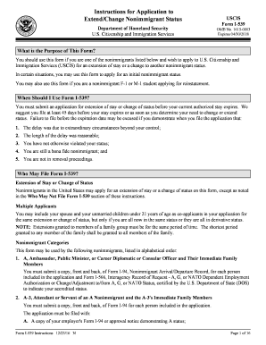 Fillable Online uscis Instructions for Form I-539, Application Fax ...