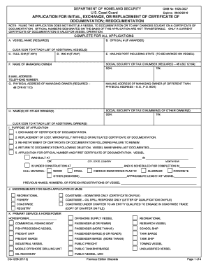 2013 Form USCG CG-1258 Fill Online, Printable, Fillable, Blank ...